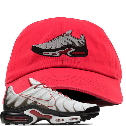 Nike Air Max Plus White University Red Sneaker Match Shoe Red Dad Hat