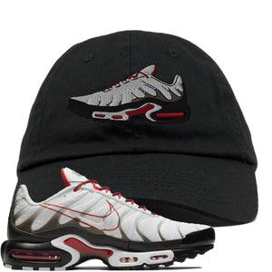 Nike Air Max Plus White University Red Sneaker Hook Up Shoe Black Dad Hat