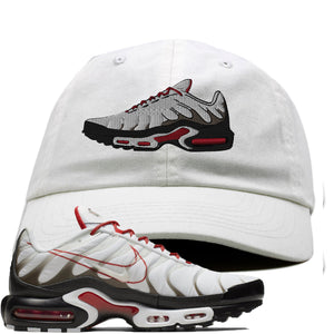 Nike Air Max Plus White University Red Sneaker Hook Up Shoe white Dad Hat