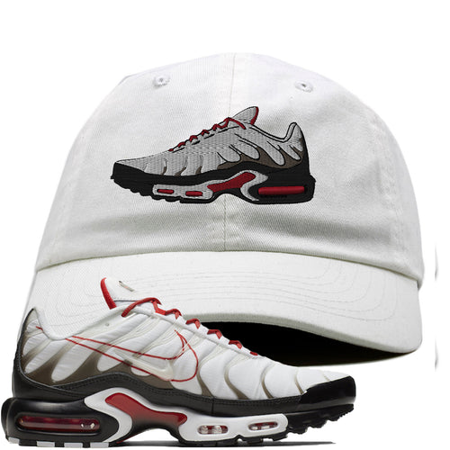 Nike Air Max Plus White University Red Sneaker Match Shoe white Dad Hat