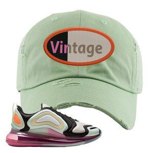 Air Max 720 WMNS Black Fossil Sneaker Sage Green Dad Hat | Hat to match Nike Air Max 720 WMNS Black Fossil Shoes | Vintage Oval