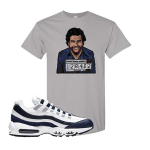 Air Max 95 Essential White / Midnight Navy T Shirt | Gravel, Escobar Illustration