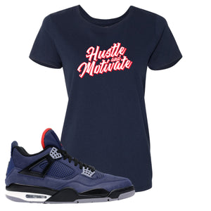 Jordan 4 WNTR Loyal Blue Hustle And Motivate Navy Sneaker Hook Up Women's T-Shirt