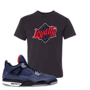 Jordan 4 WNTR Loyal Blue Loyalty Black Sneaker Hook Up Kid's T-Shirt