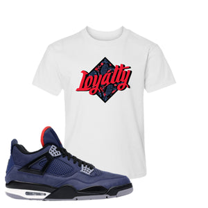 Jordan 4 WNTR Loyal Blue Loyalty White Sneaker Hook Up Kid's T-Shirt
