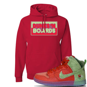 SB Dunk High 'Strawberry Cough' Hoodie | Red, Dunks N Boards