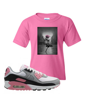 WMNS Air Max 90 Rose Pink Concrete Rose Azalea Kid's T-Shirt To Match Sneakers