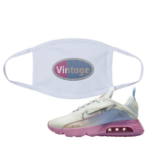 Air Max 2090 Airplane Travel Face Mask | Vintage Oval, White