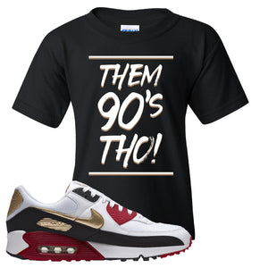 Air Max 90 Chinese New Year Kid's T Shirt | Black, Them 90's Tho