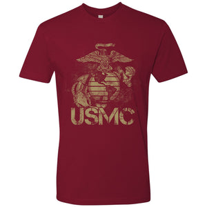 Standard Issue Distressed USMC Cardinal Red Grunt Life T-Shirt