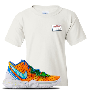 Kyrie 5 Pineapple House Kid's T-Shirt | White, Rick