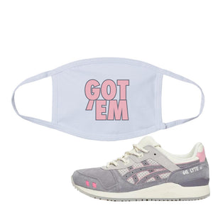END x Asics Gel-Lyte III Grey And Pink White | Got Em, White