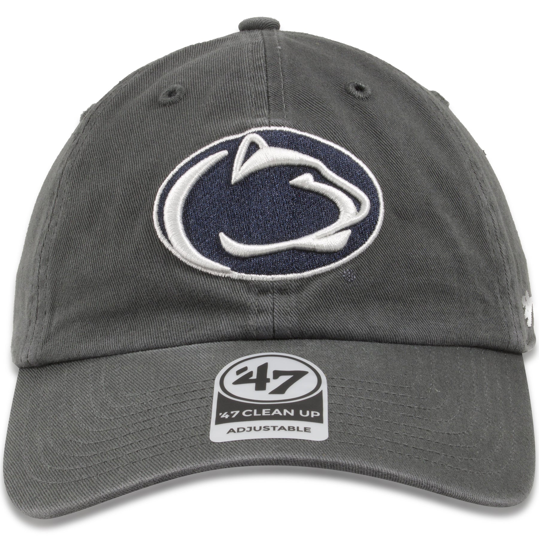 4da3436898cc87 Penn State Nittany Lions Charcoal Adjustable Dad Hat – Cap Swag