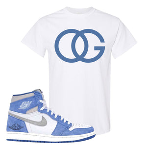 Air Jordan 1 High Hyper Royal T-Shirt | OG, White