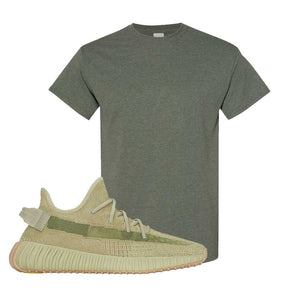 Yeezy 350 v2 Sulfur T Shirt | Heather Military Green, Blank