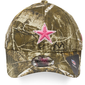 Youth Dallas Cowboys Girl's Realtree Camouflage Pink Logo 9Twenty Dad Hat