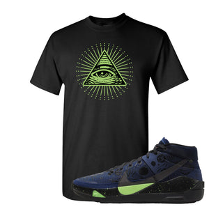 KD 13 Planet of Hoops T Shirt | All Seeing Eye, Black