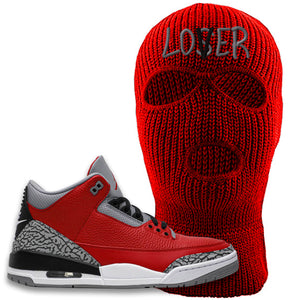 Jordan 3 Red Cement Ski Mask | Red, Lover
