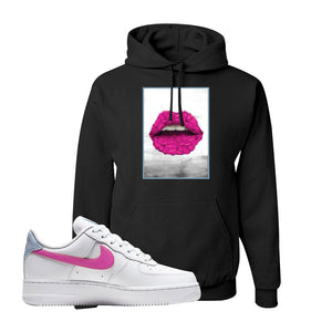 Air Force 1 Low Fire Pink Hoodie | Black, Rose Lips