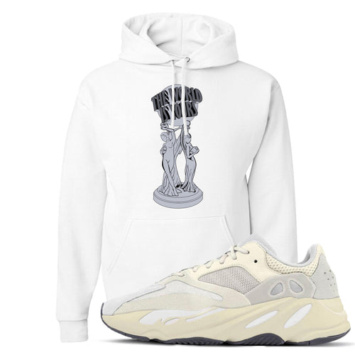 Yeezy Boost 700 Analog Sneaker Match The World Is Yours White Hoodie
