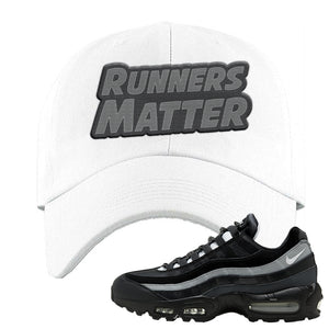 Air Max 95 Essential Black And Dark Smoke Grey Dad Hat | Runners Matter, White