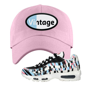 Air Max 95 Korea Tiger Stripe Dad Hat | Light Pink, Vintage Oval