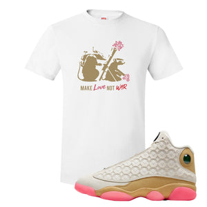 Jordan 13 Chinese New Year T-Shirt | White, Army Rats