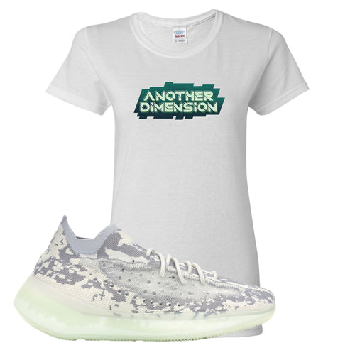 Yeezy Boost 380 Alien Another Dimension White Sneaker Matching Women's T-Shirt