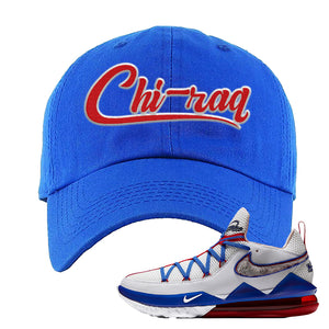 LeBron 17 Low Tune Squad Sneaker Royal Blue Dad Hat | Hat to match Nike LeBron 17 Low Tune Squad Shoes | Chiraq