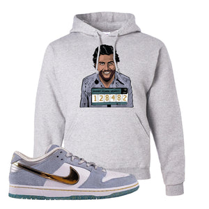 Sean Cliver x SB Dunk Low Hoodie | Escobar Illustration, Ash