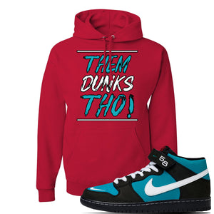 SB Dunk Mid 'Griffey' Hoodie | Red, Them Dunks Tho