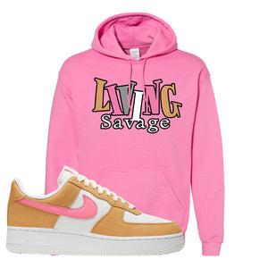 Nike Air Force 1 Pink Orange Hoodie | Living Savage, Azalea