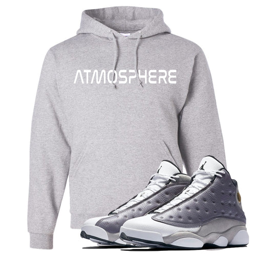 "Jordan 13 Atmosphere Grey ""Atmosphere"" Light Gray Hoodie"