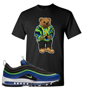 Air Max 97 Hyper Blue Green Strike T Shirt | Black, Sweater Bear