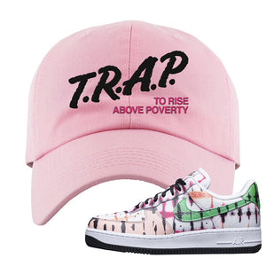 Air Force 1 Low Multi-Colored Tie-Dye Dad Hat | Light Pink, Trap To Rise Above Poverty