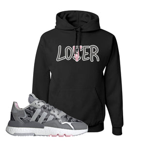 WMNS Nite Jogger True Pink Camo Hoodie | Black, Lover