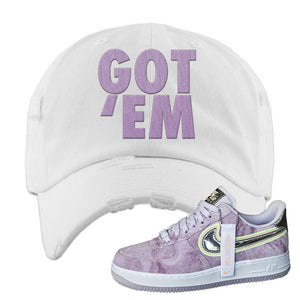 Air Force 1 P[her]spective Distressed Dad Hat | White, Got Em