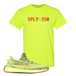 Sply-350 Safety Green T-Shirt to match Yeezy Boost 350 V2 Frozen Yellow Sneaker