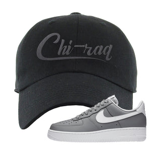 Air Force 1 Low Wolf Grey White Dad Hat | Black, Chiraq