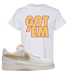 Air Force 1 Low 07 LX White Gold T Shirt | Got Em, Ash