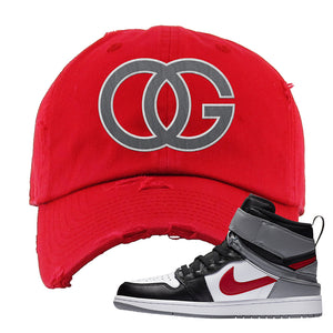 Air Jordan 1 Flyease Distressed Dad Hat | Red, OG