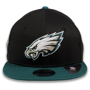 YOUTH Philadelphia Eagles Two-Tone Black / Midnight Green Adjustable 9Fifty Snapback Hat