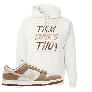 Dunk Low Medium Curry Hoodie | Them Dunks Tho, White