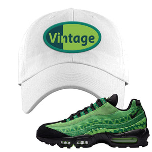 Air Max 95 Naija Dad Hat | Vintage Oval, White