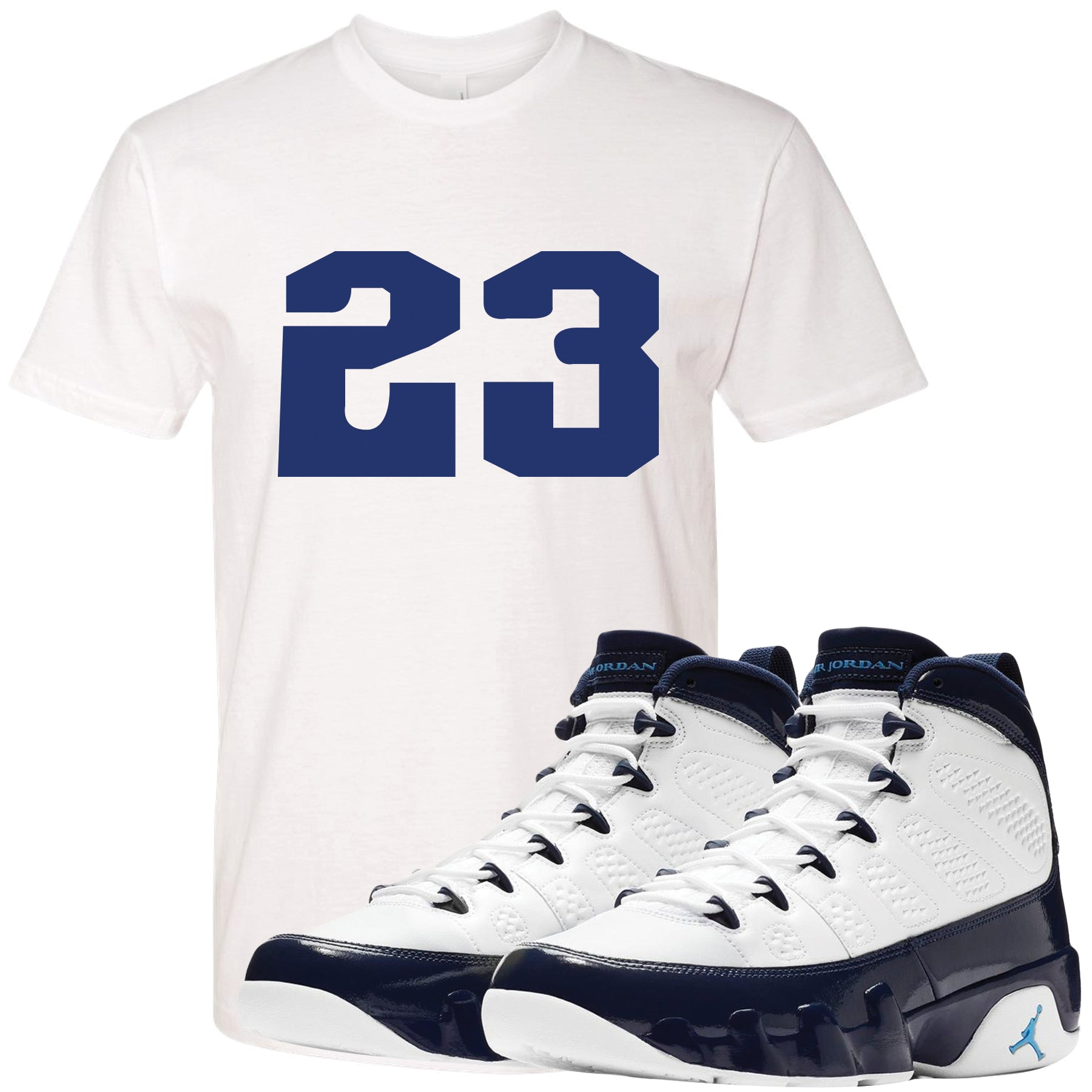 48e96de34b6a Match your pair of Jordan 9 UNC All Star Blue Pearl sneakers with this sneaker  matching