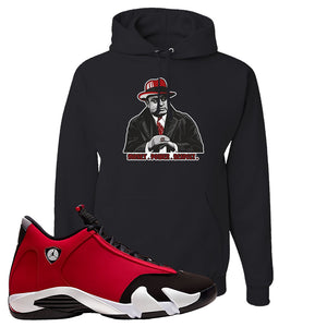 Air Jordan 14 Gym Red Hoodie | Black, Capone Illustration
