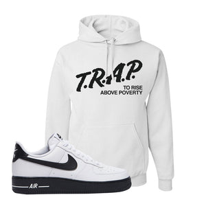 Air Force 1 Low White Black Hoodie | White, Trap To Rise Above Poverty