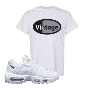 Air Max 95 White Black T Shirt | Ash, Vintage Oval