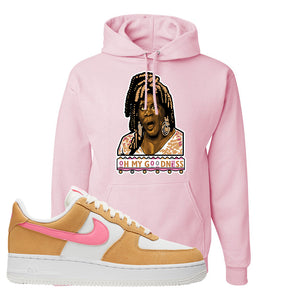 Nike Air Force 1 Pink Orange Hoodie | Oh My Goodness, Light Pink