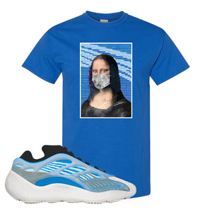 Yeezy 700 v3 Azareth T Shirt | Royal Blue, Mona Lisa Mask